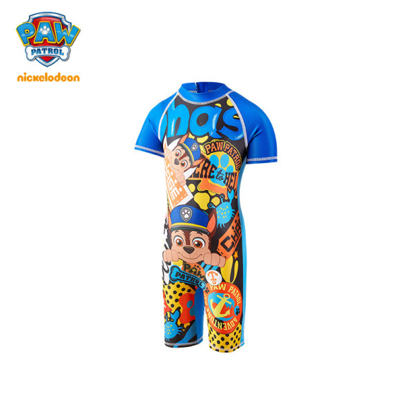 PAW Patrol Boys One-Piece Swimsuit Printed Short-sleeved Swimwear