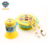 PAW Patrol Removable Suction Bowl Stainless Steel Tableware Four Pieces Set