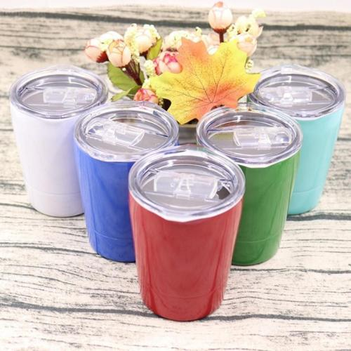 12OZ Tumbler stainless Steel Coffee Mug Double Wall Vacuum Insulated Tea Cup With Lid Travel Mugs Lovely Kids Cups For Milk