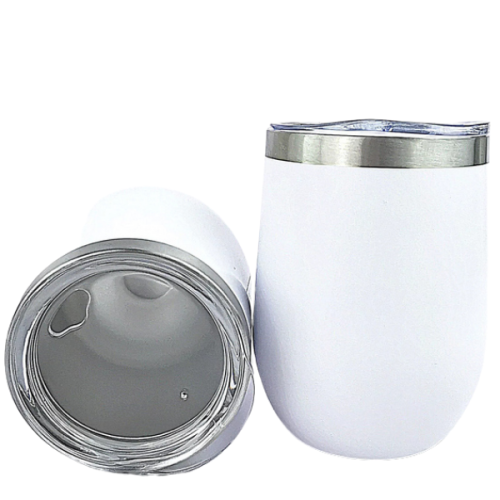 10psc*12oz Sublimation Wine Tumbler Double Walled Insulation Vacuum With Lid