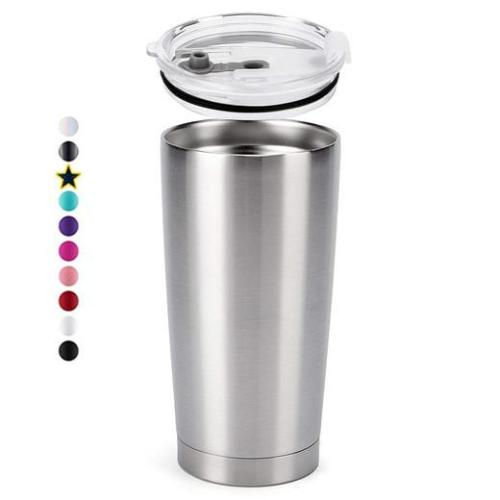 Blank 20 OZ STAINLESS STEEL INSULATED VACUUM TUMBLERS WITH LID