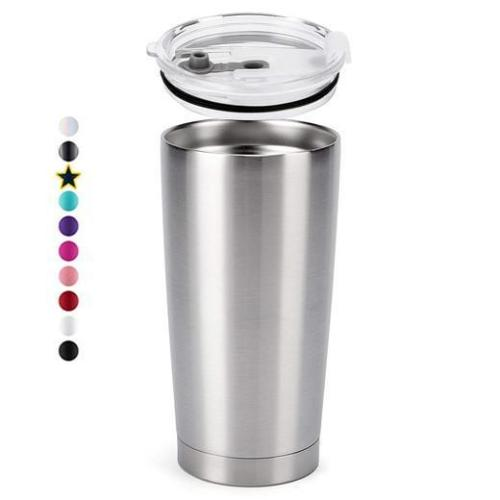 Case of 25 *20oz Regular STAINLESS STEEL INSULATED VACUUM TUMBLERS WITH LID