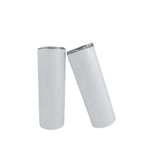 20 oz Sublimation tumbler blanks straight skinny stainless steel vacuum double walled with lid and plastic straw