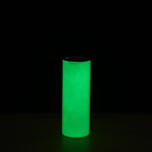 15pcs *20oz glow in the dark sublimation tumbler straight skinny tumbler glow in the dark