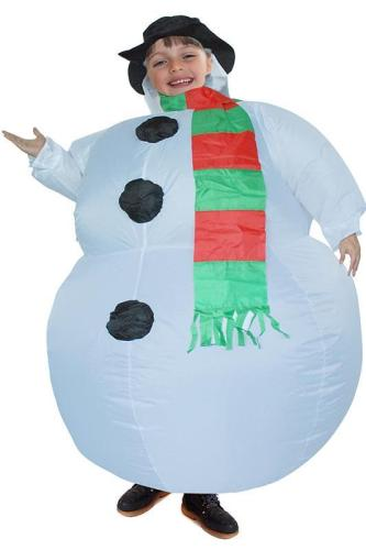 Christmas Gift Kids Snowman Inflatable Blow up Costume 47  to 59