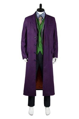 Dark Knight Joker 6 pcs Costume Set * Gabardine trench Coat Version
