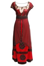 Titanic Rose Jump Dress Costume Victorian