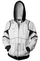 Star Wars Hoodie First Order Stoomtrooper Pullover Sweatshirt White