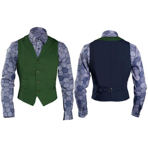 Dark Knight Joker Hexagon Shirt + Vest costume Tailor Made