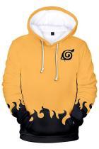 Boys Pullover Hoodie Naruto Yellow Sweatshirt Unisex