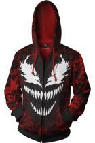 2018 Venom Symbiote Merchandies 3D Hoodie Zip Up Sweatshirt Unisex