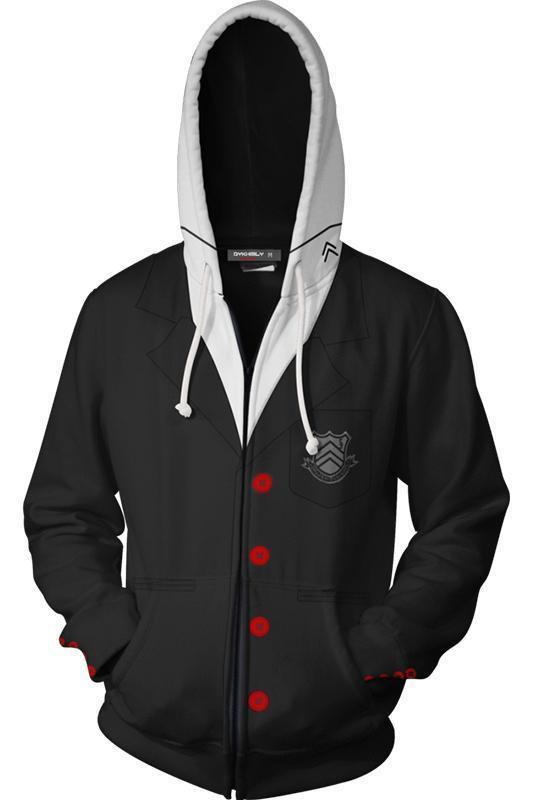 Persona 5 Hoodie P5 Ren Amamiya 3D Zip Up Sweatshirt Unisex