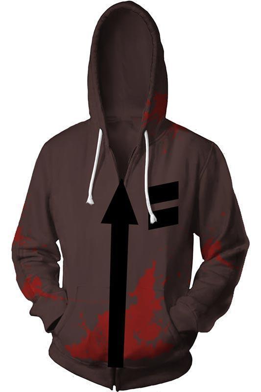 Angels of Death Hoodie Merchandies Isaac·Foster Zack 3D Zip Up Sweatshirt Unisex