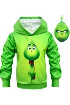 Kids Hoodie How the Grinch Stole Christmas Grinch Green Pullover Sweatshirt