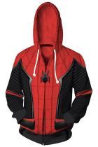 Spider-Man: Far From Home Hoodie Spiderman Peter Park 3D Zip Up Sweatshirt Unisex