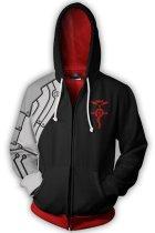 Fullmetal Alchemist Hoodie Edward Elric 3D Printed Zip Up Sweatshirt