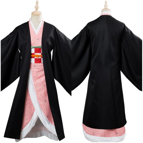 Blade of Demon Destruction Kamado Nezuko Outfit Cosplay Costume