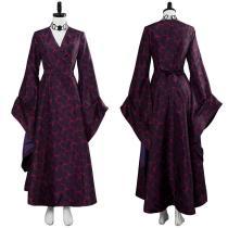 Game of Thrones Season 8 Melisandre Red Hexagon Dress Dark Gown Cosplay Costume