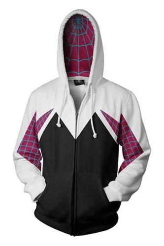 Spider-Man: Into the Spider-Verse Gwen 3D Zip-Up Sweatshirt Adult Unisex
