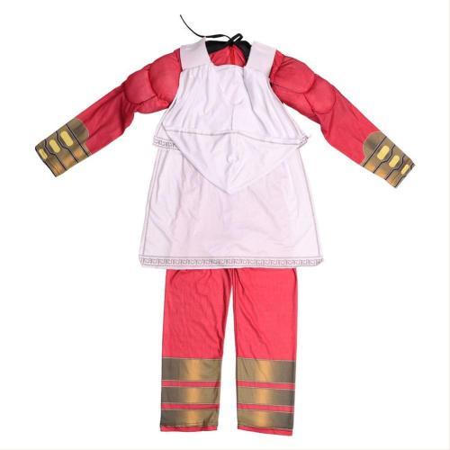 2019 Shazam Billy Batson Cosplay Costume For Kids Boys Toddler