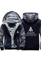 Teen Thick Winter Hoodie Assassin's Creed Odyssey Camouflage Zip Up Sweatshirt