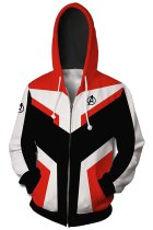 Teen Hoodie Avengers 4 Endgame Quantum Realm Suit Zip Up Jacket Sweatshirt For Adults Unisex