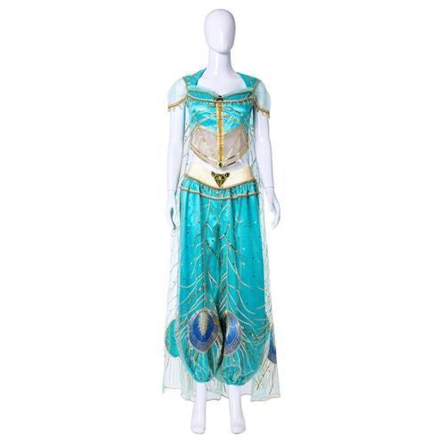 2019 Movie Aladdin Princess Jasmine Halloween Cosplay Costume Women Kids