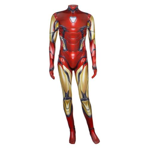 Avengers 4 : Endgame Iron Man Tony Stark Outfit Bodysuit Cosplay Costume Adult Kids