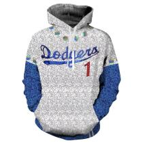 2019 Rocketman Elton John Dodgers Hoodie Baseball Team Uniform Cosplay Costume