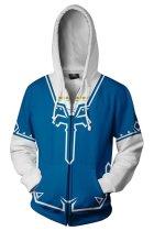 The Legend of Zelda Merchandies Hoodie Link 3D Zip Up Sweatshirt Unisex