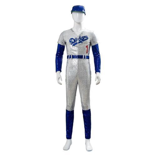 Rocketman Elton John Dodgers Baseball Uniform Cosplay Costume