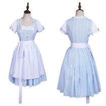Movie The Wizard of OZ Maid Dress Outfit Dorothy Gale Halloween Carnival Suit Cosplay Costume