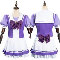 Anime Pretty Derby School Uniform Dress Halloween Carnival Suit Cosplay Costume