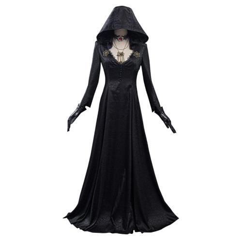Resident Evil Village Vampire Lady Dress Outfit Lady Dimitrescu's Daughter Halloween Carnival Suit Cosplay Costume