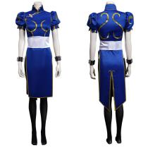 Game Street Fighter(SF) Cheongsam Dress Outfit Chun-Li Halloween Carnival Suit Cosplay Costume