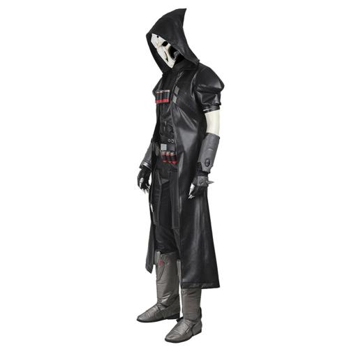 Overwatch OW Outfit Reaper/Gabriel Reyes Halloween Carnival Suit Cosplay Costume