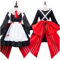 Anime Genshin Impact x KFC Maid Dress Noelle Halloween Carnival Suit Cosplay Costume
