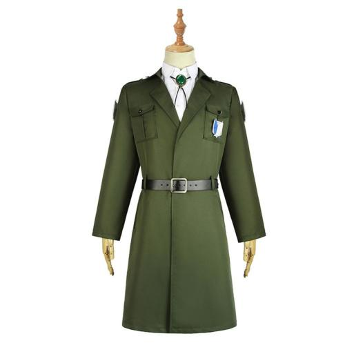 Attack on Titan Scouting Legion Trench Coat Uniform Levi Eren Mikasa Halloween Carnival Costume Cosplay Costume