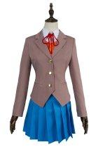 Doki Doki Literature Club Sayori Natsuki Yuri Monika Girls School Uniform Cosplay Costume