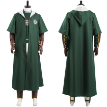 Harry Potter Halloween Carnival Suit Slytherin Green Quidditch Magic Shool Uniform Outfit Cosplay Costume