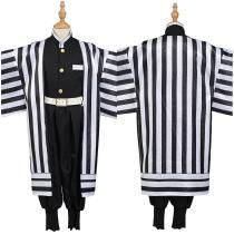Demon Slayer: Kimetsu no Yaiba Kids Kimono Outfit Iguro Obanai Halloween Carnival Suit Cosplay Costume
