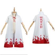 NARUTO 4th Hokage Kids Cloak Coat Namikaze Minato Halloween Carnival Suit Cosplay Costume