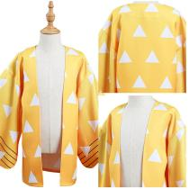 Demon Slayer: Kimetsu no Yaiba Kids Children Kimono Coat Agatsuma Zenitsu Cosplay Costume