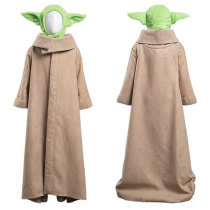The Mandalorian Robe Hat Outfit Baby Yoda Halloween Carnival Suit Cosplay Costume