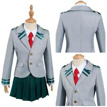 My Hero Academia Kids Girls Uniform Skirt Outfits Ochaco Uraraka Asui Tsuyu Halloween Carnival Suit Cosplay Costume