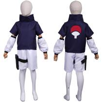 NARUTO Kids Children Top Pants Outfit Sasuke Uchiha Halloween Carnival Suit Cosplay Costume