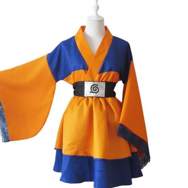 Naruto Shippuden Naruto Uzumaki Lolita Robe Genderbend Cosplay Costume
