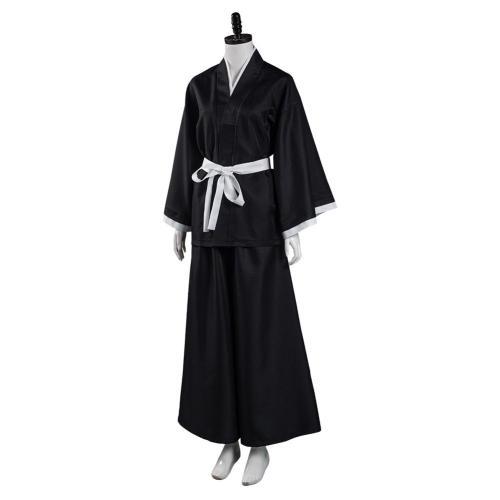 Anime Bleach Japanese Kimono Outfit Kuchiki Rukia Halloween Carnival Suit Cosplay Costume
