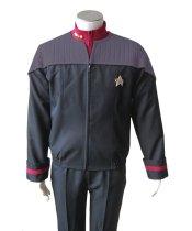 Star Trek Nemesis NEM Duty Uniform Halloween Cosplay Costume Coat Jacket+Shirt+Badge