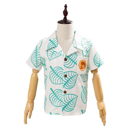 Animal Crossing Short Sleeve Shirt Tom Nook Top for Kids Children Cosplay Costume